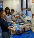 Making sandwiches for the Watford New Hope Trust