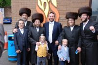 Rabbi Induction with Travelling Chassidim