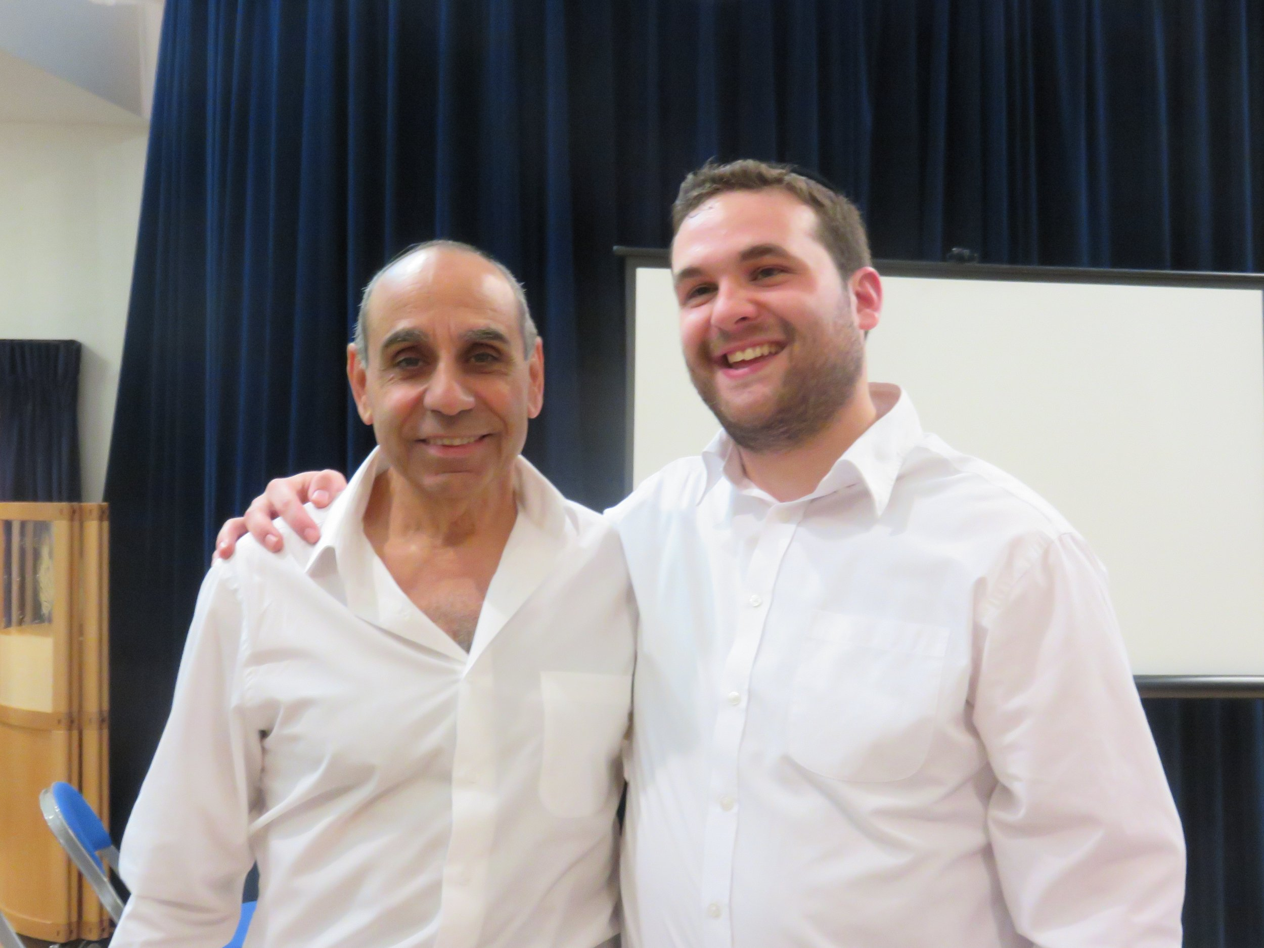 Sassy Reuvein & Chazan Yossi aunders at the Engage talk 'Operation Thunderbolt - The Miracle at Entebbe